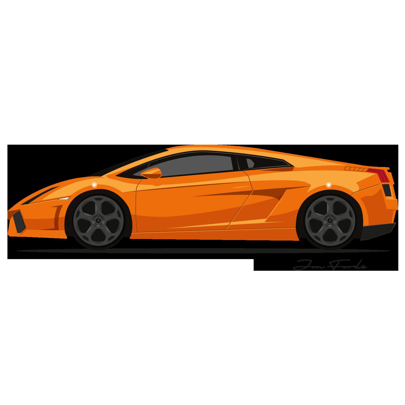 Lamborghini Gallardo Jon Forde Automotive Illustrator